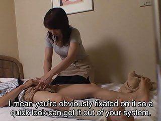 Japanese hotel massage exposing erection for recent masseuse