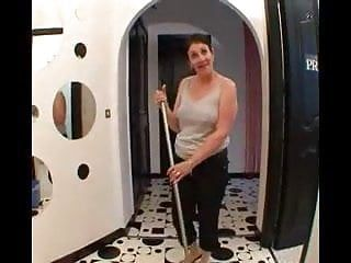 Older housekeeper receives ravished